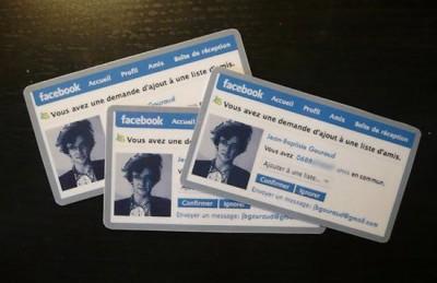 "Cartes de Visites ""Facebook"""