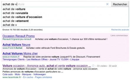 google instant exemple 1