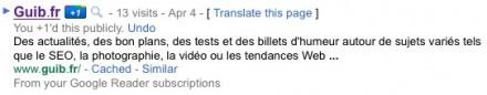 Google +1 Validé