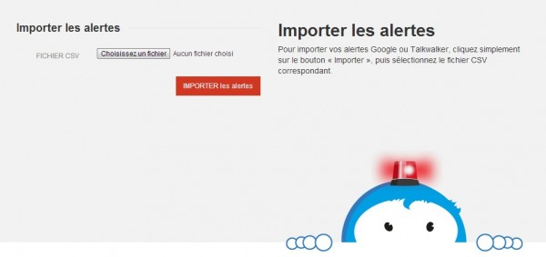 Talkwalker importe les alertes Google Alerts