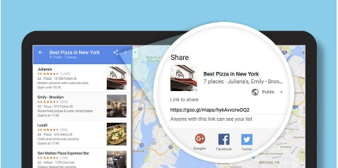 partagr une liste google streetview